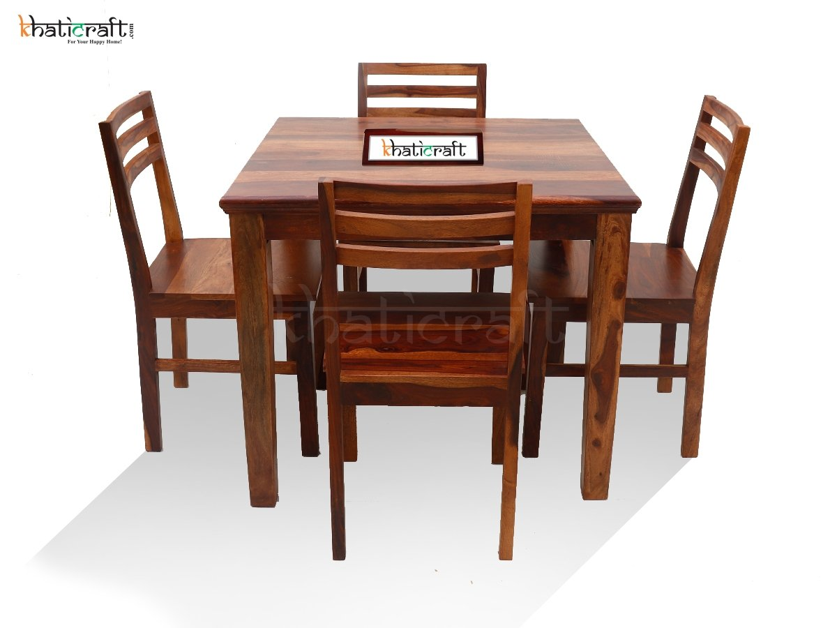 Buy 4 Seater Dining Table Set Patti Online At Best Price Khaticraft Com