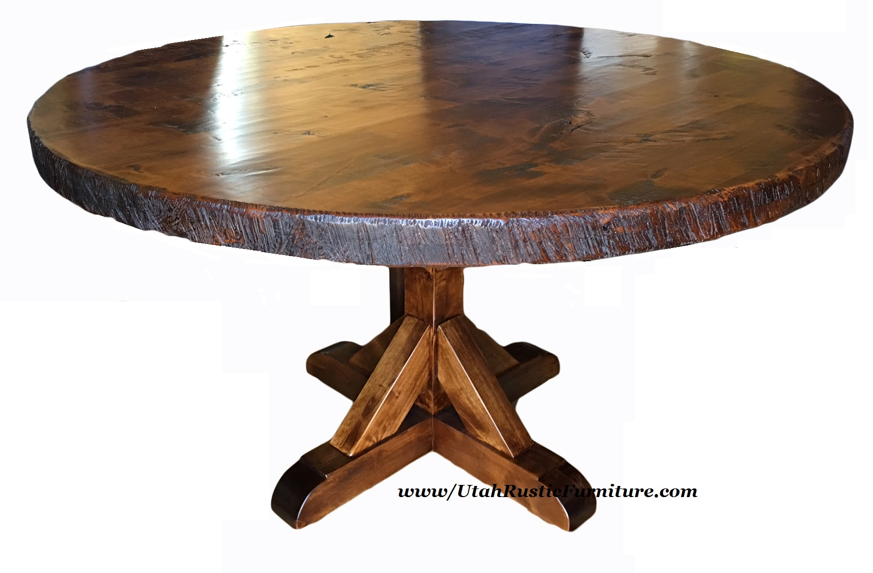 rough wood dining table