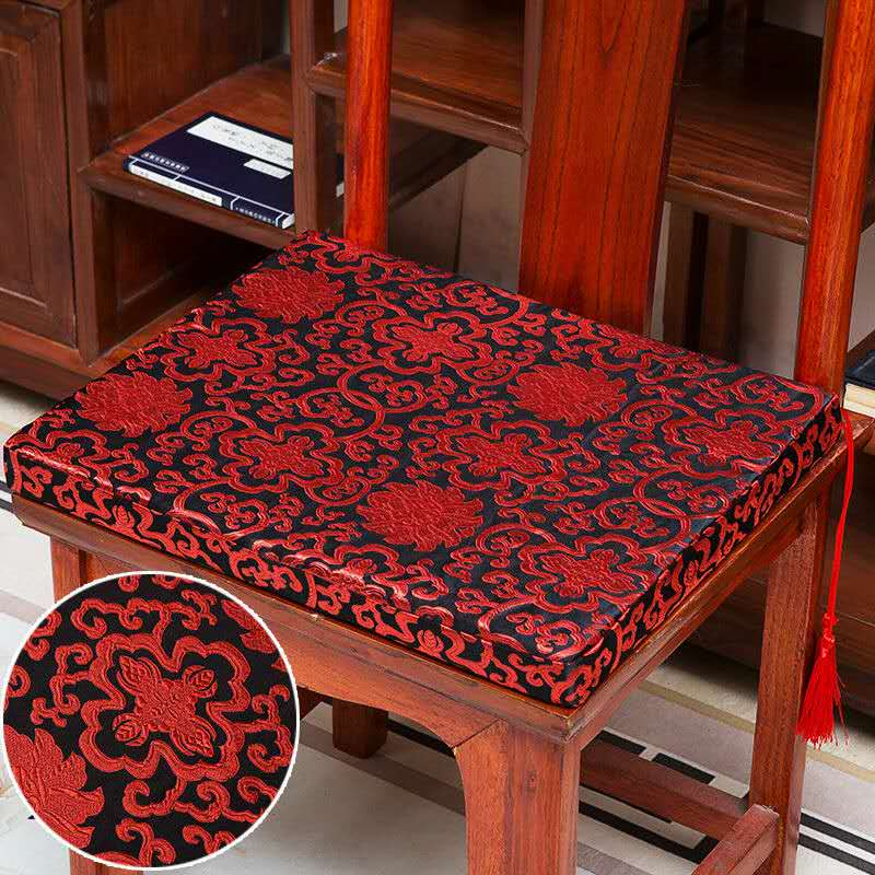 red chair cushions dining