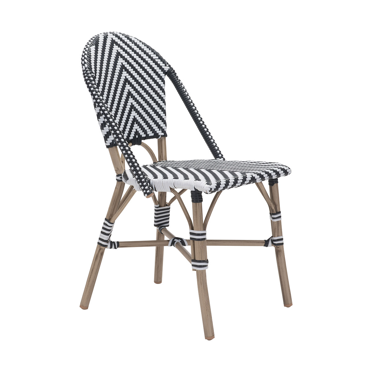 black & white dining chairs