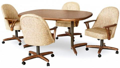 dining room sets with caster chairs