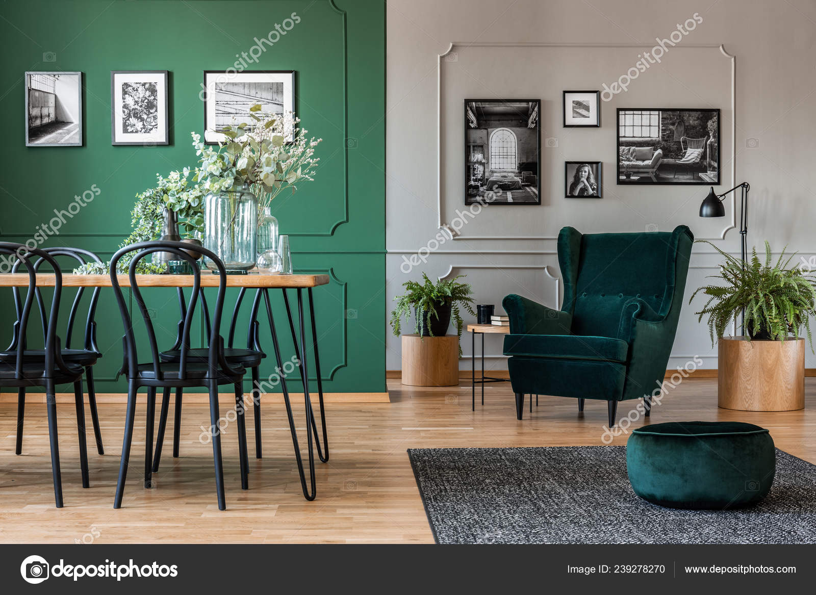emerald green dining room chairs