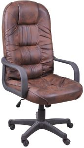 office chairs brown leather