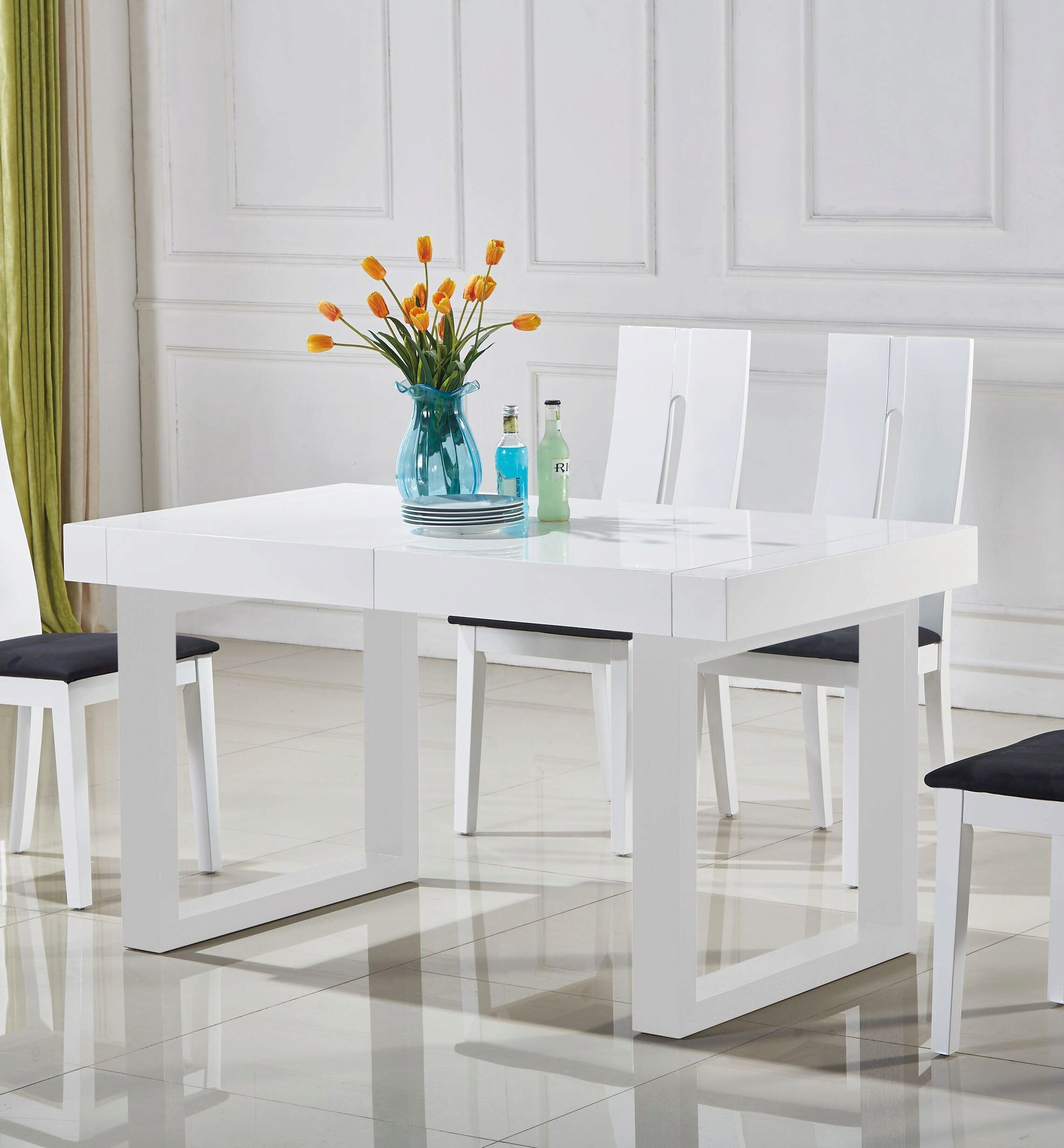 modern extendable dining table set