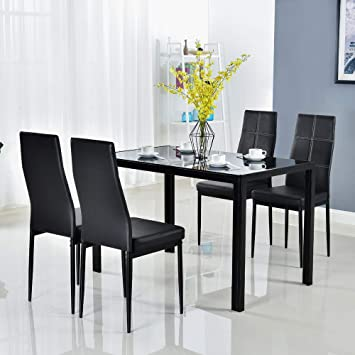 round glass dining table and chairs clearance