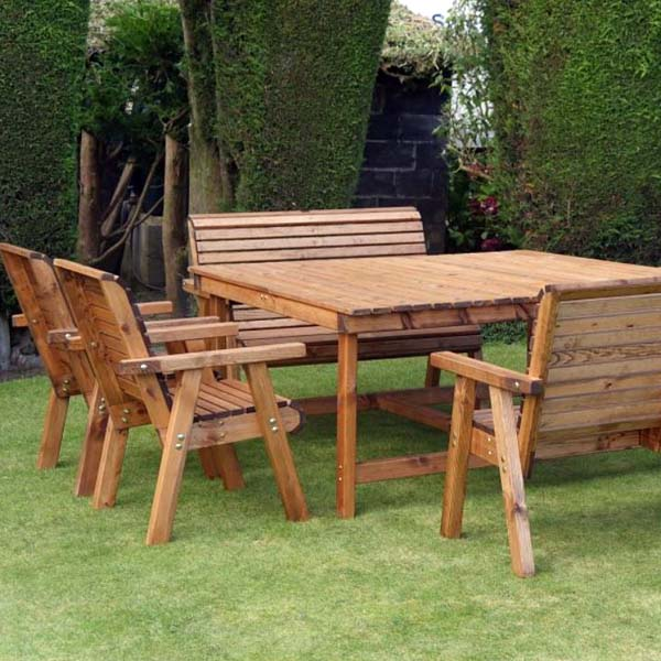 square wood dining table for 8