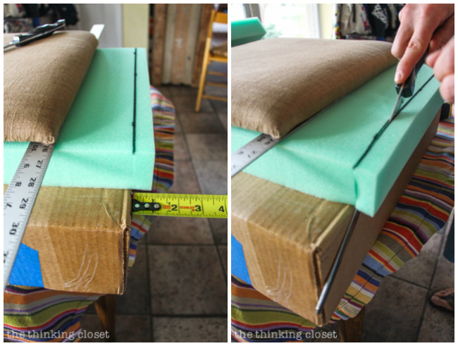 How To Reupholster A Chair Seat The No Mess Method The Thinking Closet