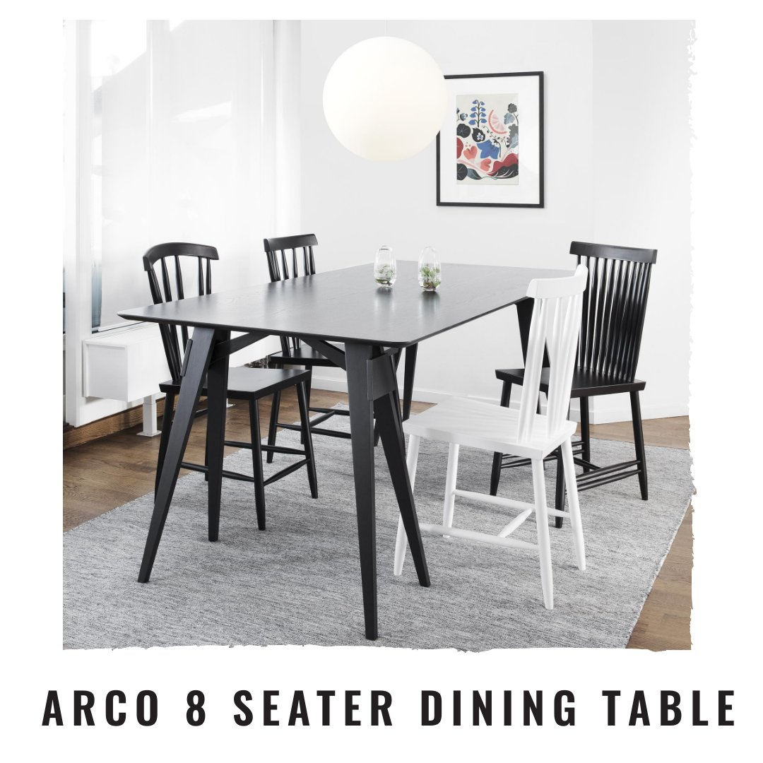 8 seater dining table size