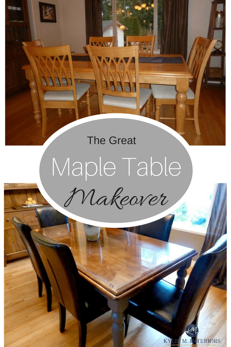 maple wood dining table and chairs