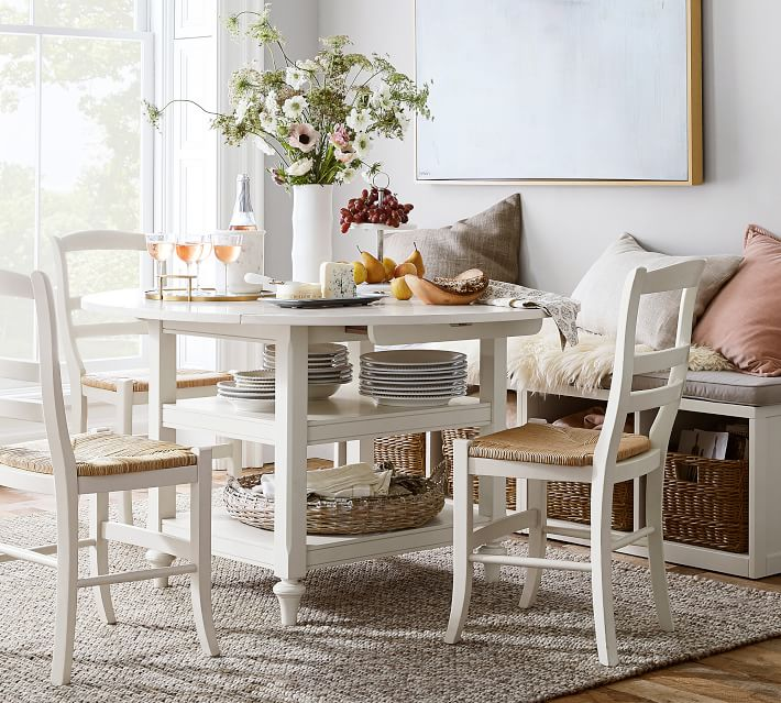 small dining table with stools