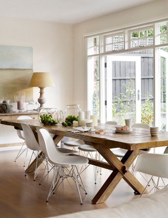 rustic country dining table