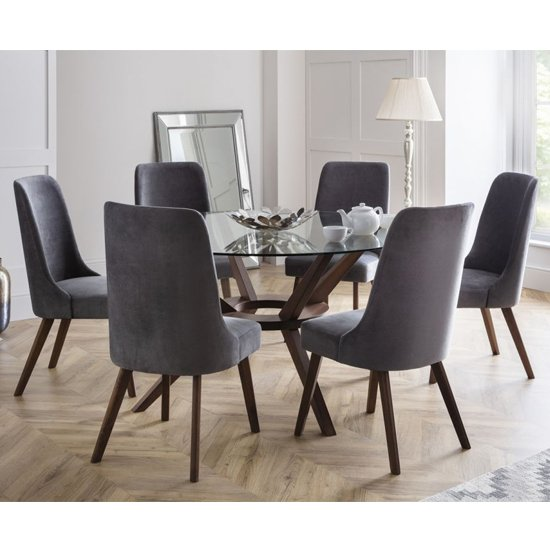 glass dining room chairs