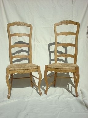 ladder back dining chairs french country