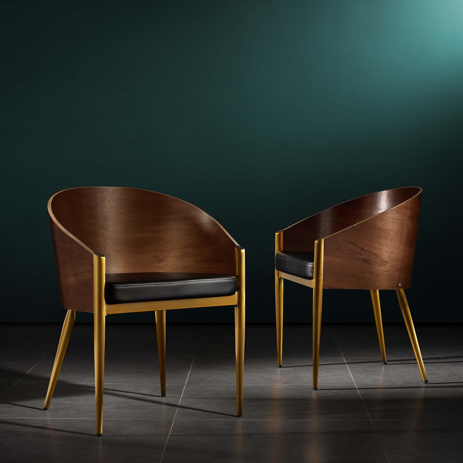 faux leather dining chairs with arms