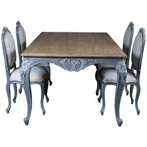 french style dining table and chairs