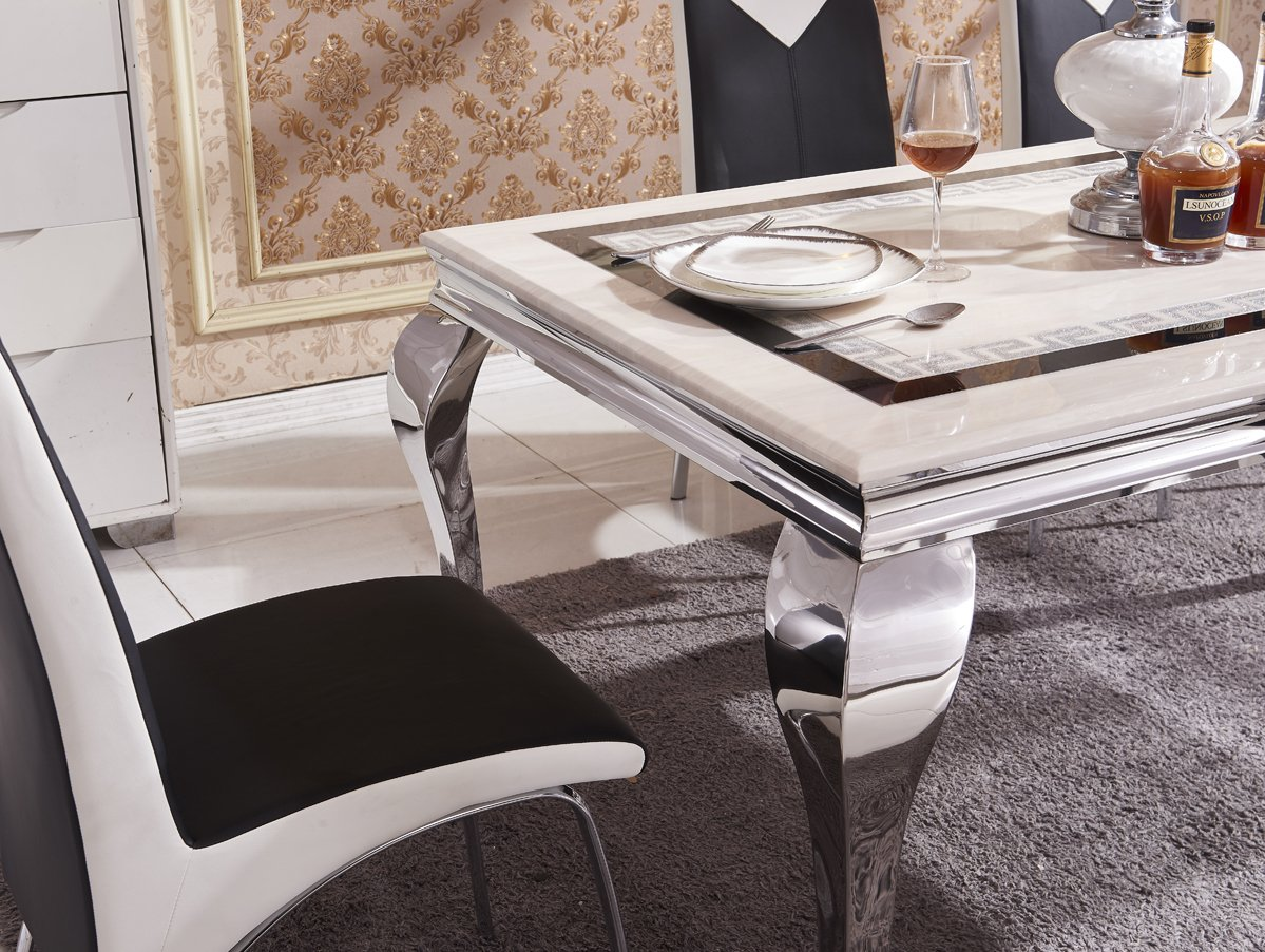 white dining room table and 6 chairs