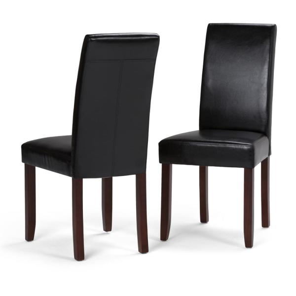 contemporary black dining chairs