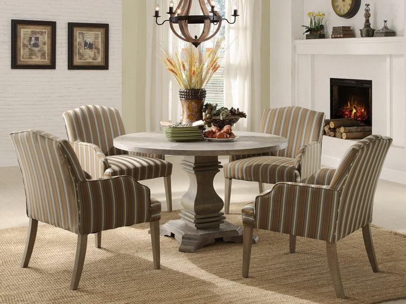 painted round dining table ideas