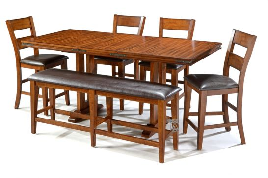 high dining table and stools