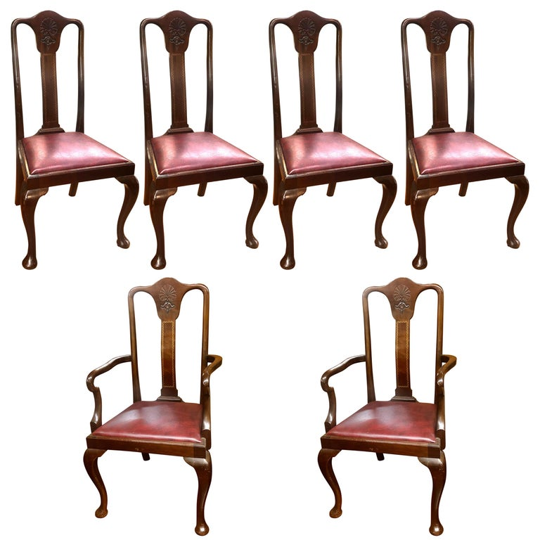 queen anne dining chairs for sale