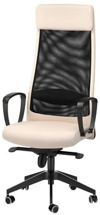 ikea white leather office chair
