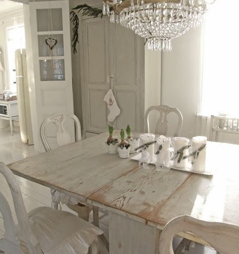country chic dining table