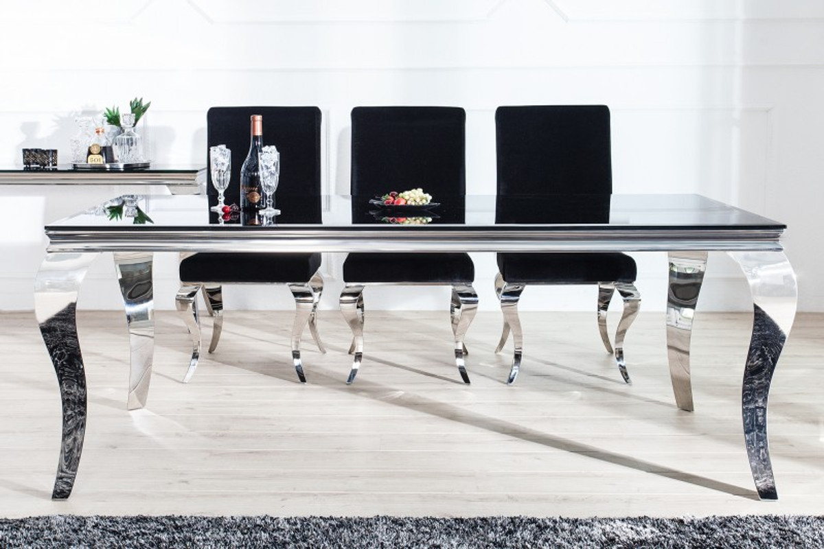 black dining sets with 6 chairs