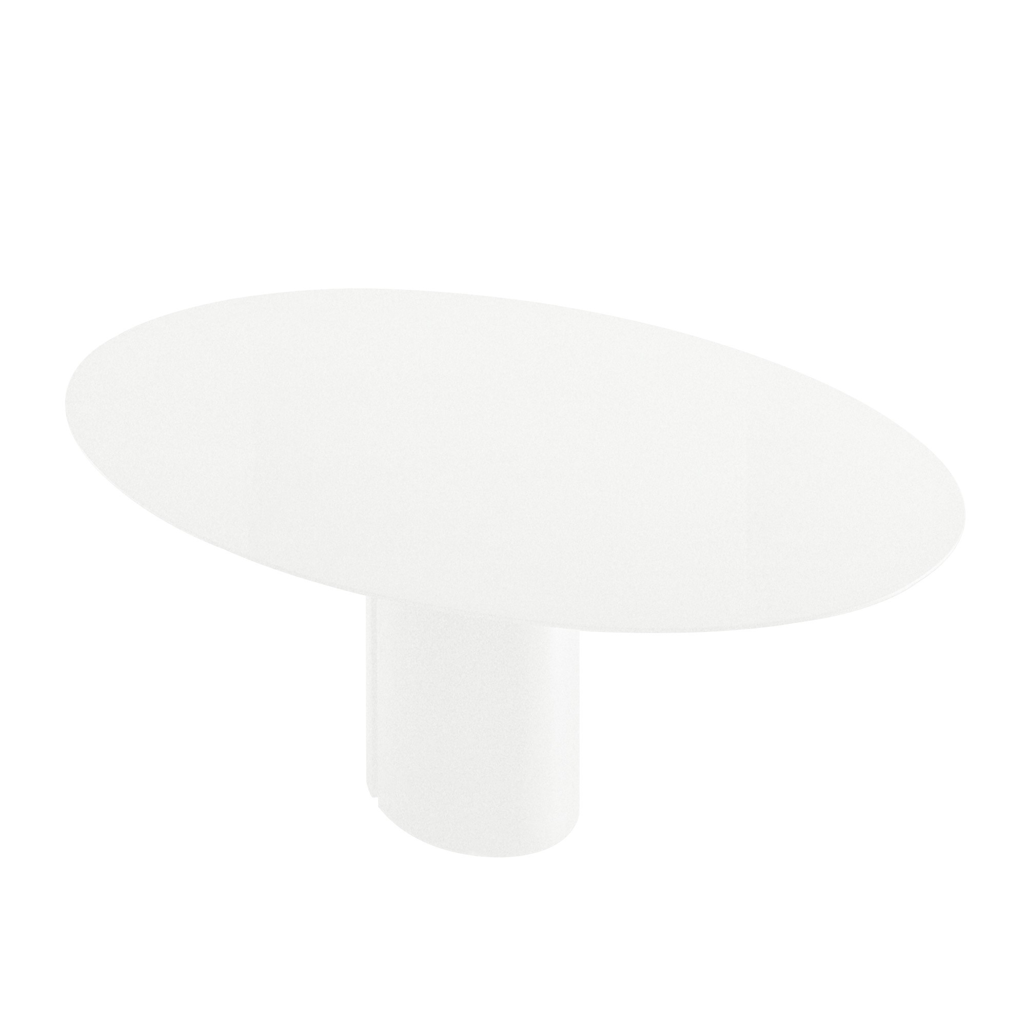 black and white oval dining table