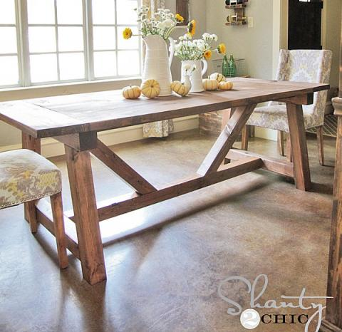 trestle dining table plans