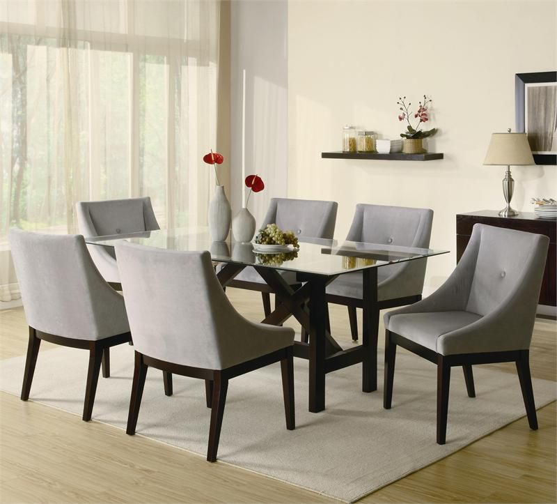 glass dining table set for sale