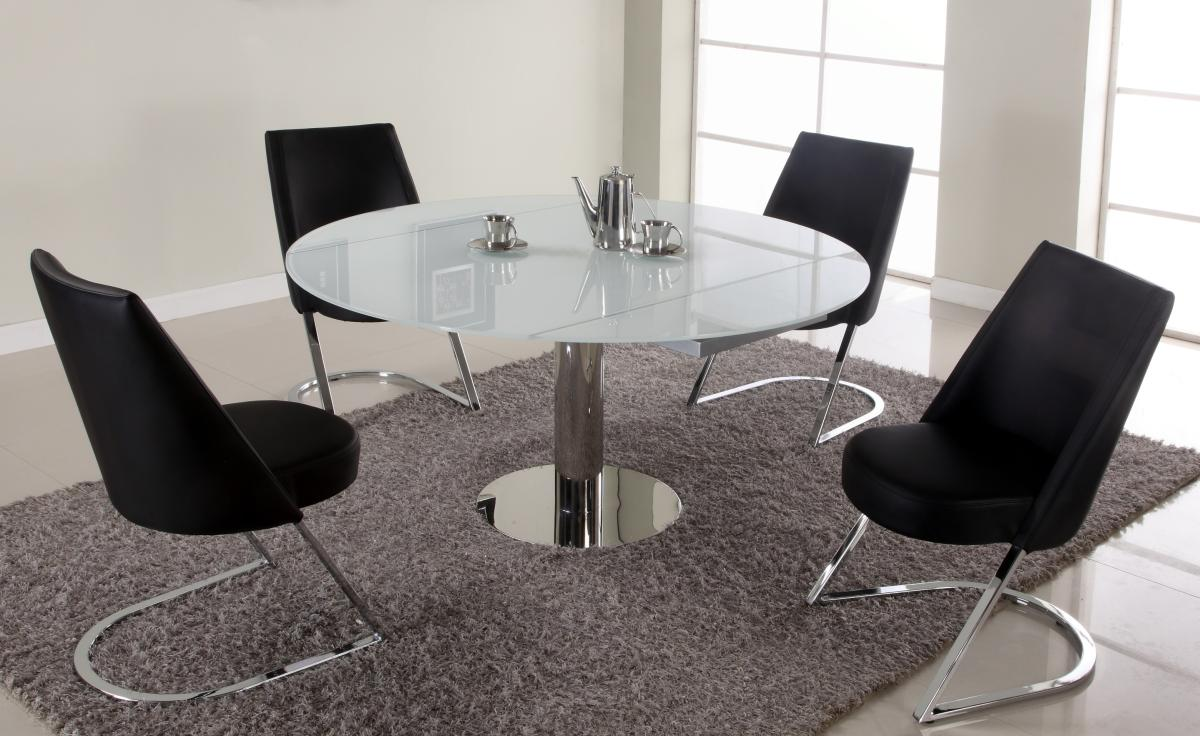 extendable glass dining table and chairs