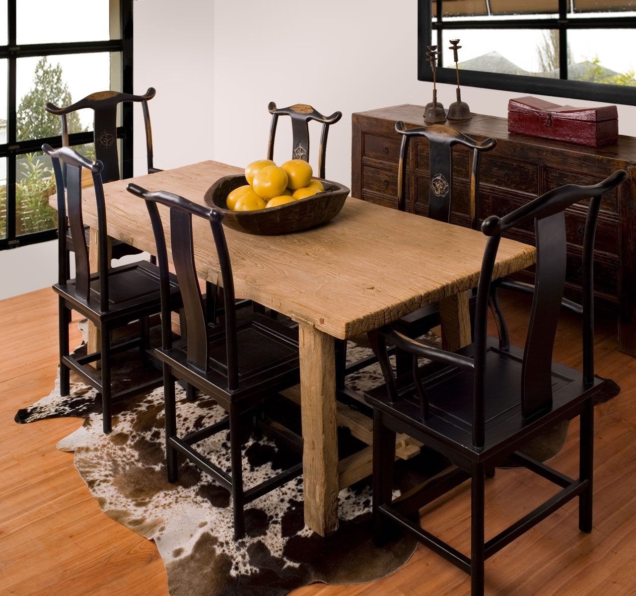 narrow dining room table with leaves