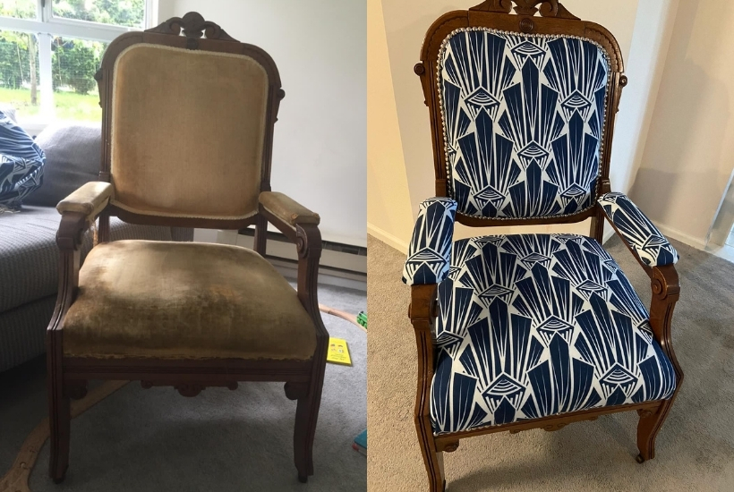 upholster dining room chairs