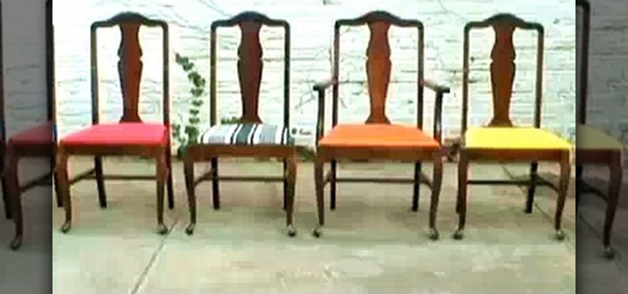 reupholstering dining room chairs