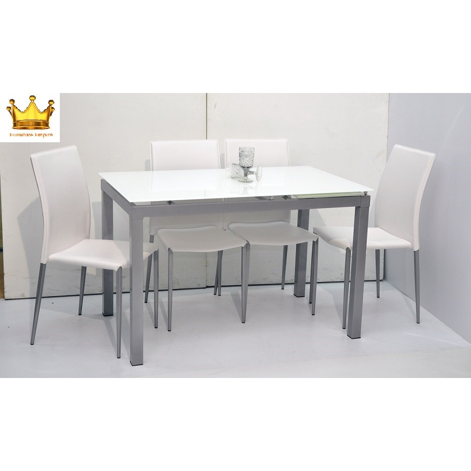 extendable glass dining table sets