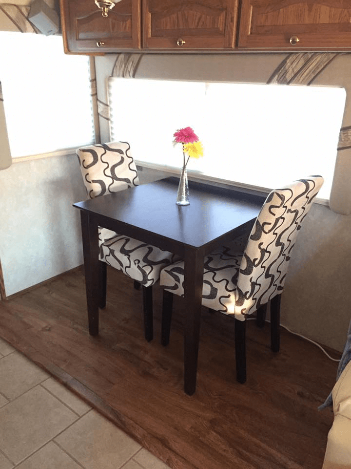 travel trailer dining table