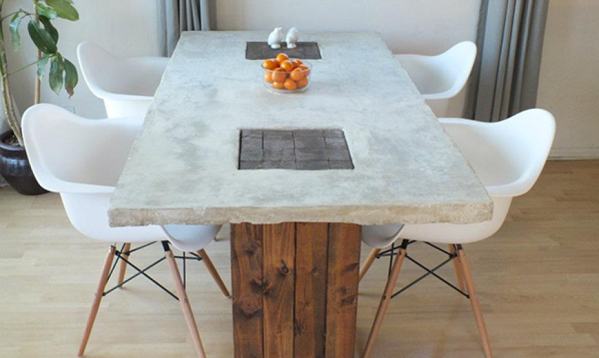 diy dining table base for glass top