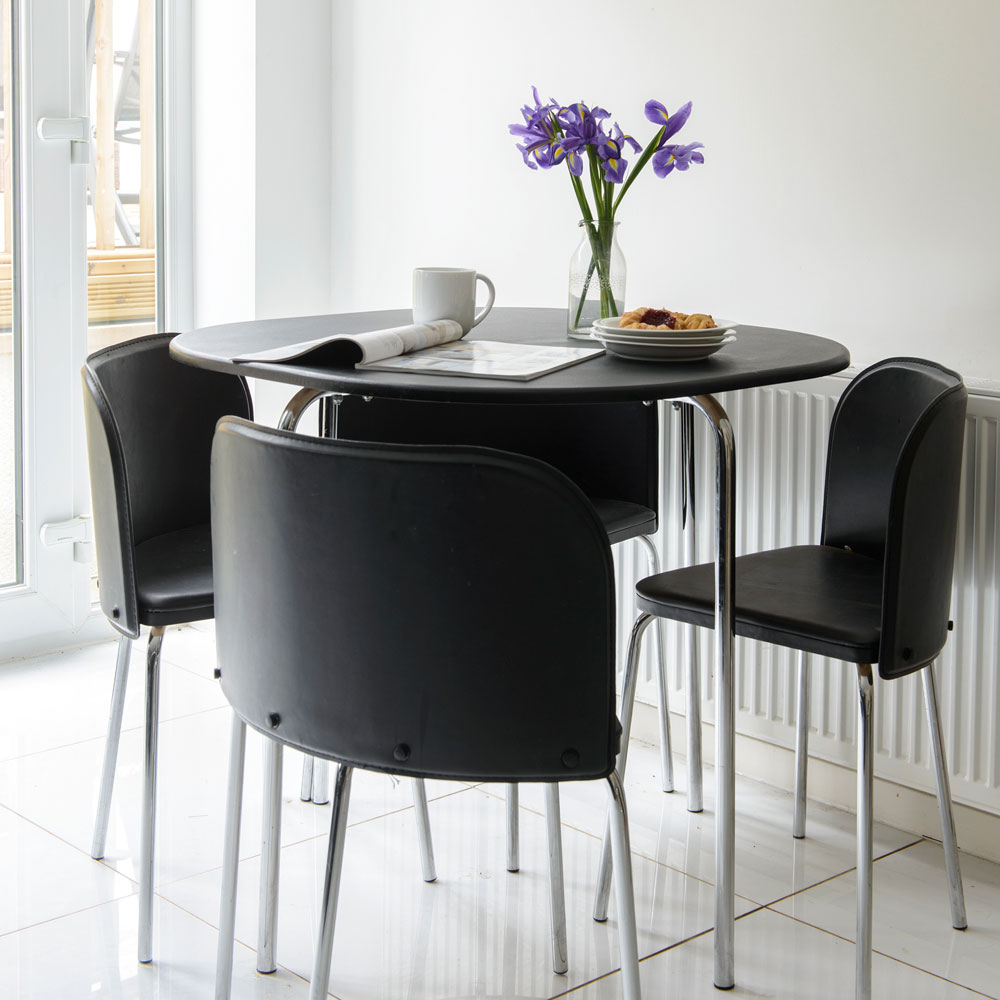 small 4 chair dining set