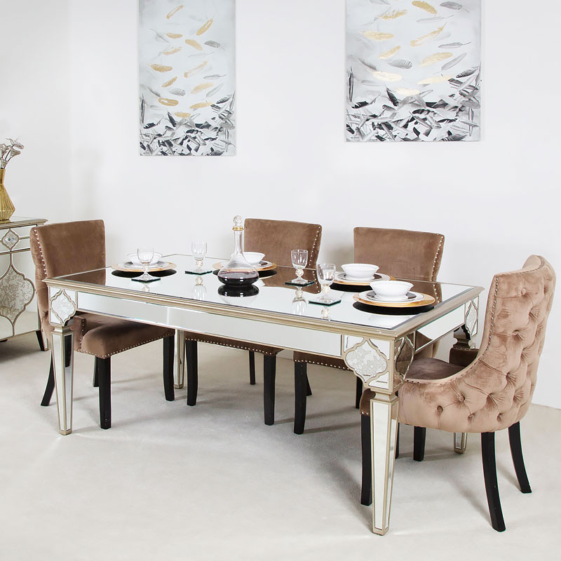 moroccan dining table and chairs