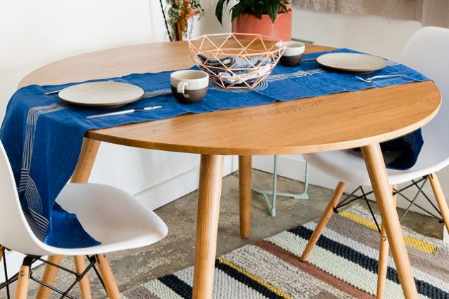 oval shape wooden dining table designs with glass top