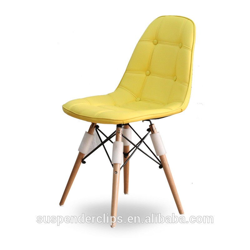 yellow upholstered dining chairs