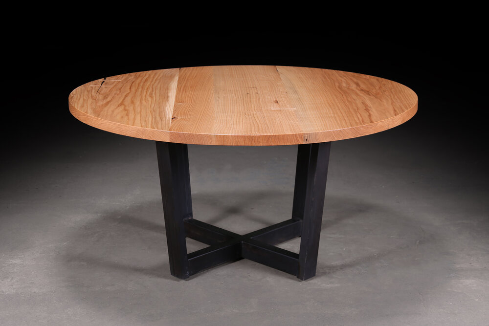 oak dining table round