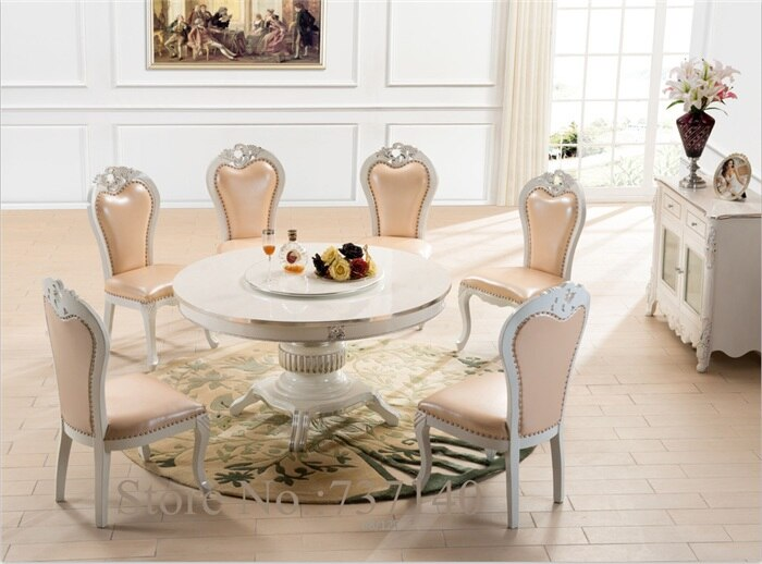 retro round dining table and chairs