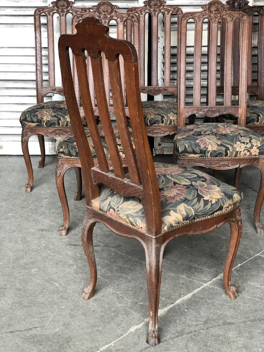 set of six dining chairs