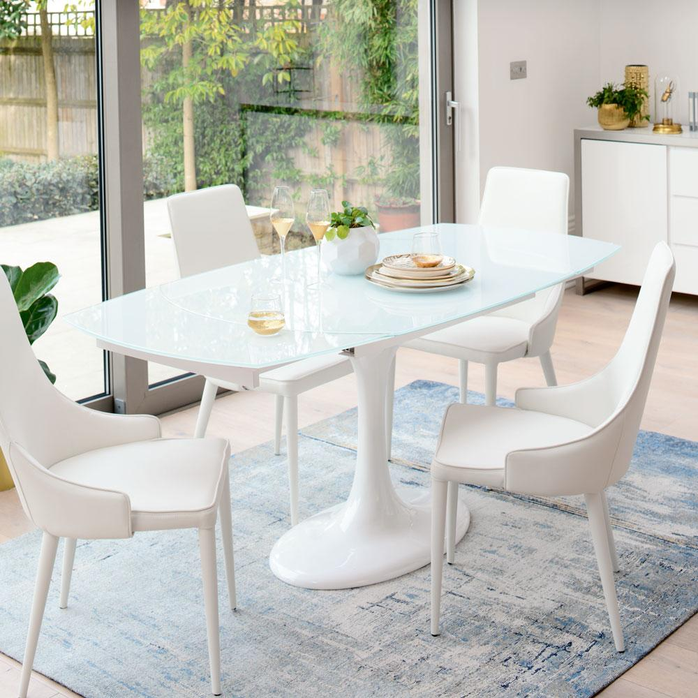 all glass dining room table