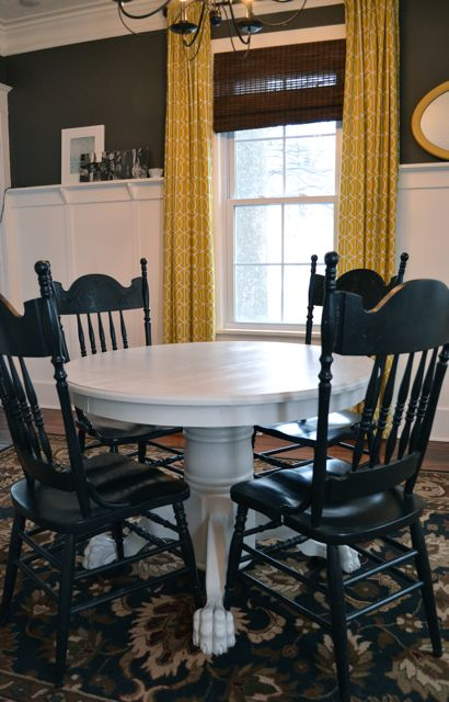 painted dining room table ideas