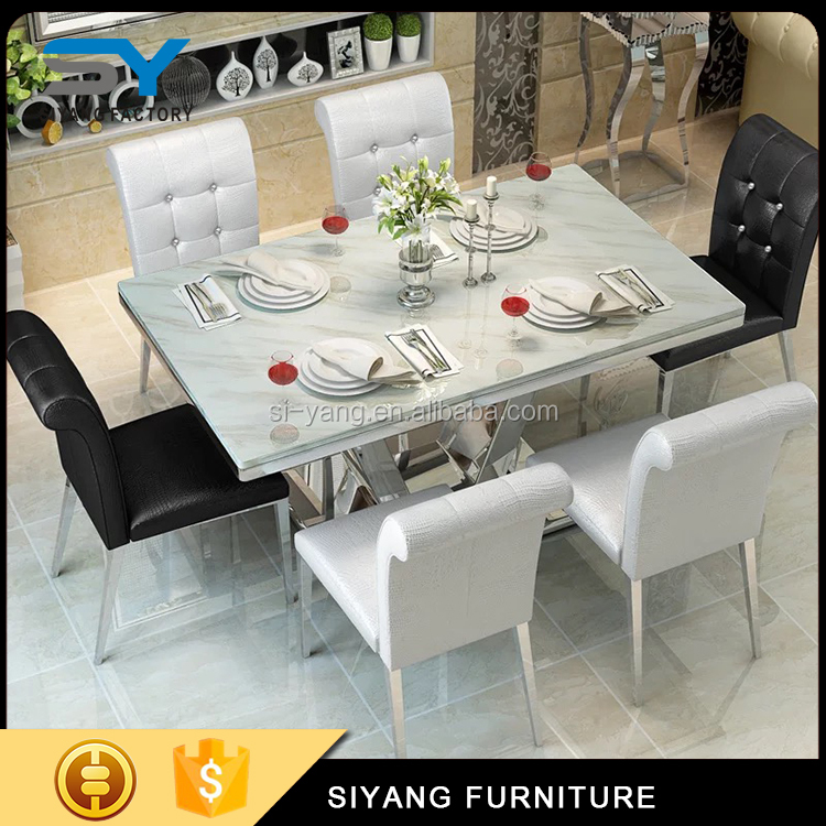 tempered glass on dining table