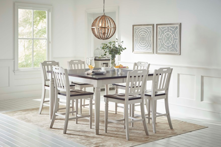 Jofran Orchard Park Counter Height Dining Table With 8 Chairs A1 Furniture Mattress Dining 7 Or More Piece Sets
