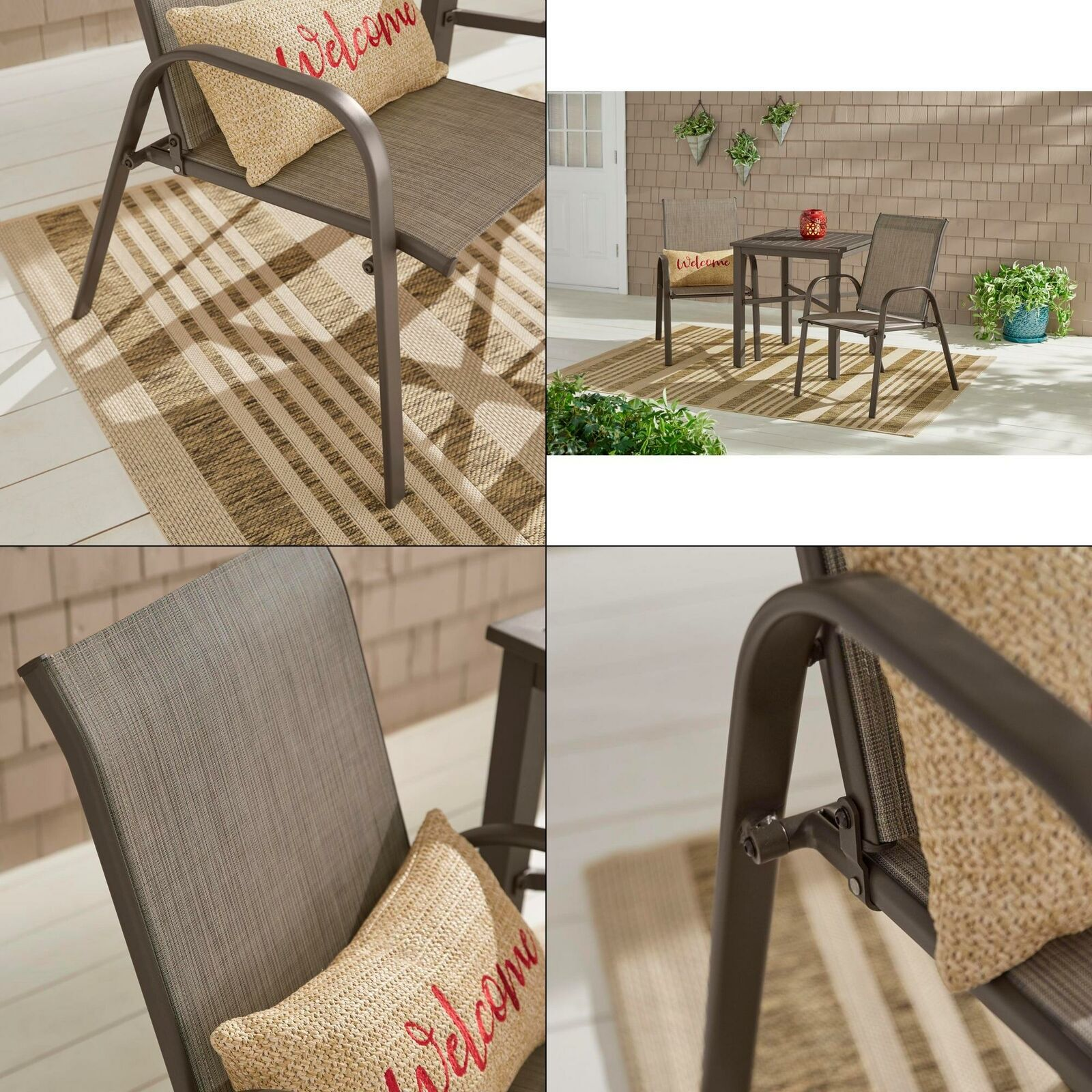 hampton bay stackable sling outdoor dining chair