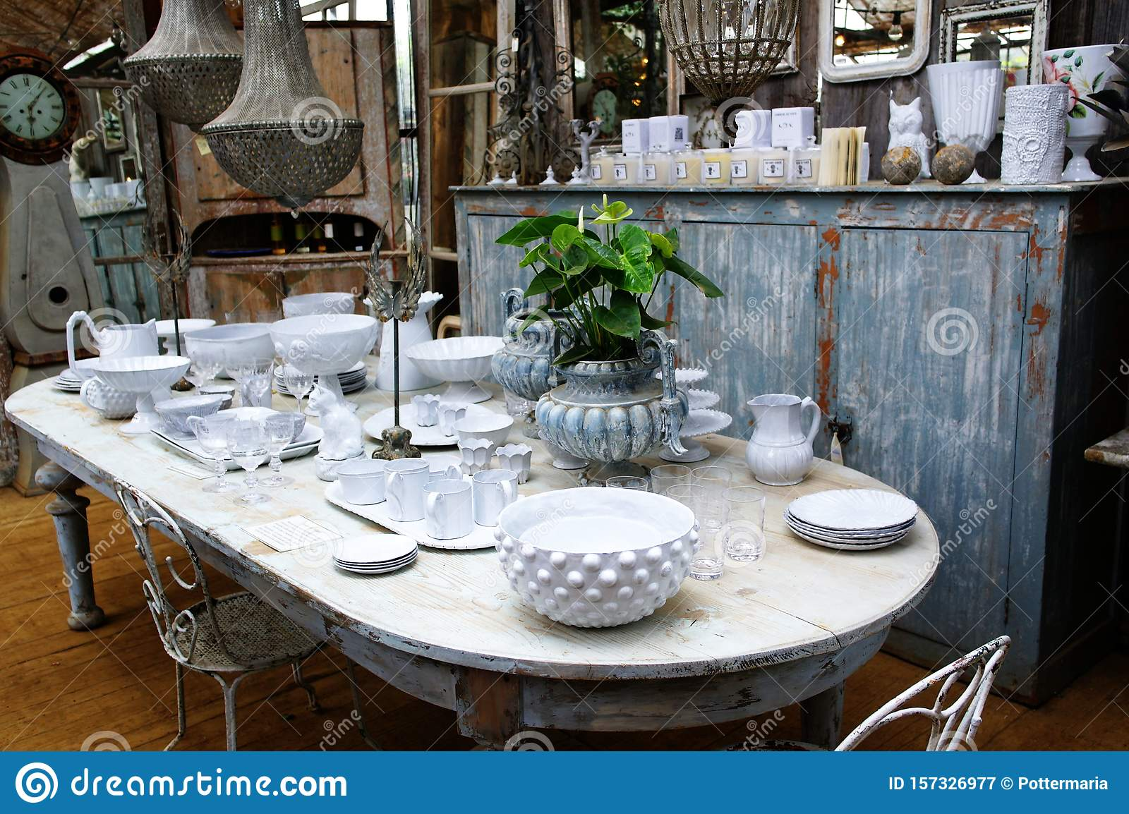 antique glass dining table